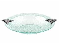 Thirstystone Glass Clear Grapes Round Bowl