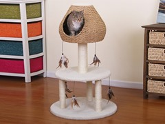 "37"" Paper Rope Two Level Cat Condo"