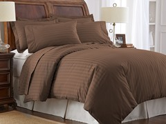 500TC 100% Pima Cotton Pillowcases-Standard-Brown