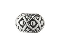 Sterling Silver Bead w/ Basket Weave