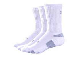 UA Men's HeatGear Crew, 3 Pairs (2 Colors)