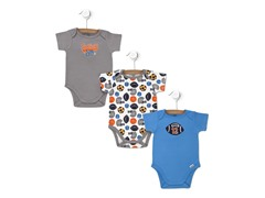 Sport 3-Pk Short-Sleeve Bodysuits (0-9M)