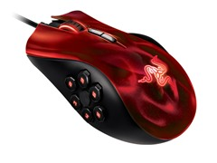 Razer Naga Hex Gaming Mouse - Wraith Red