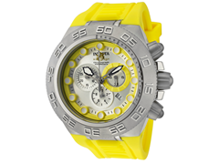 Subaqua 1534 Stainless with Yellow Bezel