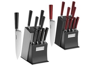 Cuisinart 11 pc Cutlery Sets- Red/Black or Black/Steel