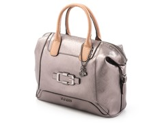 Guess Verdugo Box Satchel Handbag, Gunmetal