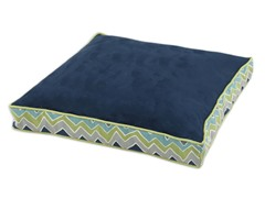 Passion Suede Navy-See Saw 23x23 Boxed Pet Bed