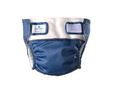 2-Piece Dark Denim Reusable Diaper Set