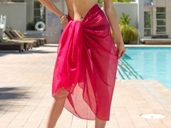 Cotton Sarong Hot Pink