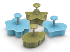 4-Piece Pie Press Cutters-Spring