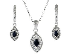 sps61f-blk SS micropave black marquise cut set