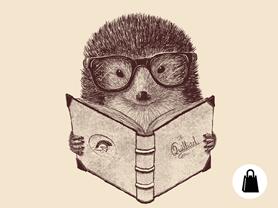 Hipster Hedgehog Tote