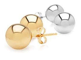 14k Gold Ball Studs