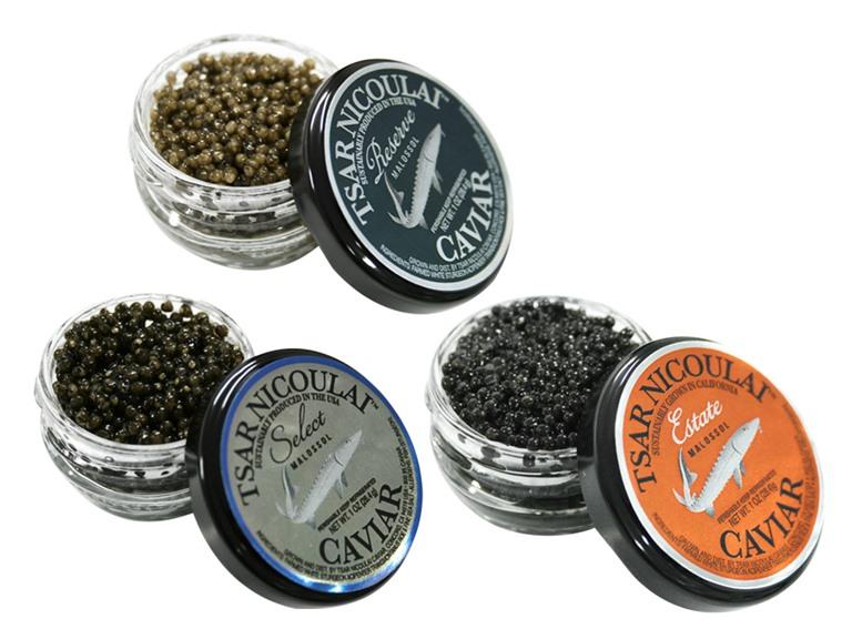 Tsar Nicoulai Caviar Sampler (3)