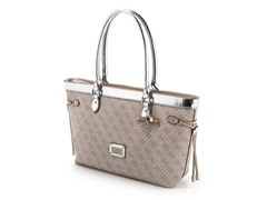 Guess Madaket East/West Carryall Handbag, Silver