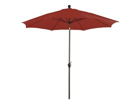 9-Foot Aluminum Push Tilt Umbrella - Red
