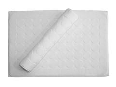 Circle Design Bath Mats - Set of 2 - White