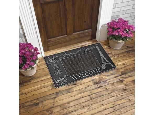 Image of Elegance Carpet Silver Door Mat