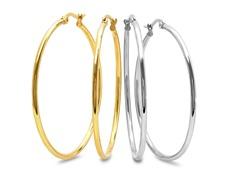 2-Pack 50mm Hoop Earrings