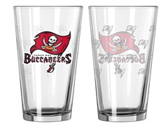 Bucs Pint Glass 2-Pack