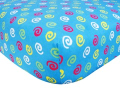Swirl Print Flannel Crib Sheet