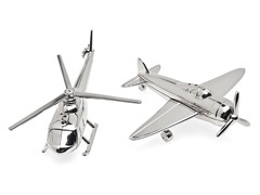 Airplane/Chopper Salt and Pepper Shaker Set