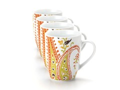 Rachael Ray Paisley Mugs 11oz 4-pc