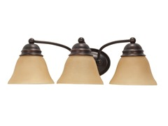 "3-Light 21"" Vanity, Mahogany Bronze"