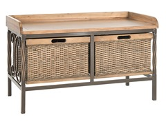 Noah Wooden Storage Bench - Oak