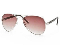 Perry Ellis Aviator 8 Silver/Burgundy