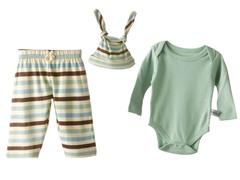 Sage Stripe Set & Hat
