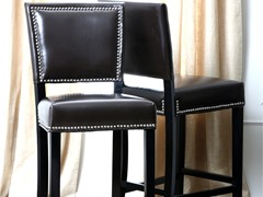 Set 2 Bella Leather Barstools (2 Colors)