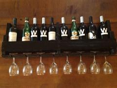 Reclaimed Wooden Wine Rack - Walnut
