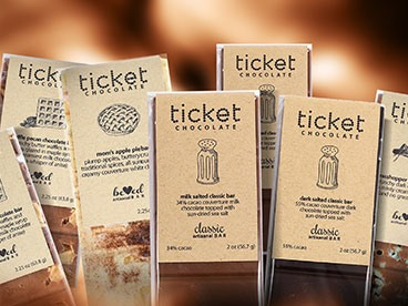 Ticket Chocolate Bars - 7 Pack