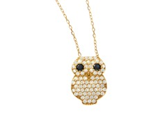 18kt Gold Plated Owl Necklace