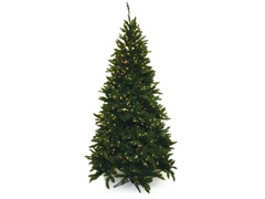"Allegheny Fir Tree 7'5"" Prelit Clear"