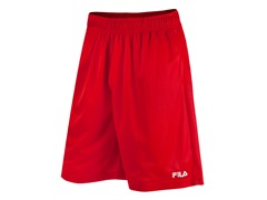 Fila Men's Solid Mesh Shorts, Red (XL)