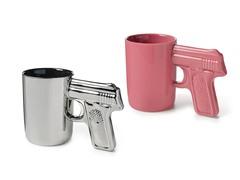 AGS Brands Silver & Pink Gun Mug - 2pk