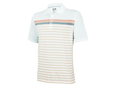 adidas Mens ClimaCool Stripe Polo,Sunset