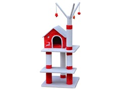 Soft Fleece and Sisal Christmas 3-Level Cat Tree 55""