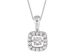 "ZKS Designs ""Dancing"" Diamond Cushion Shape Pendant"