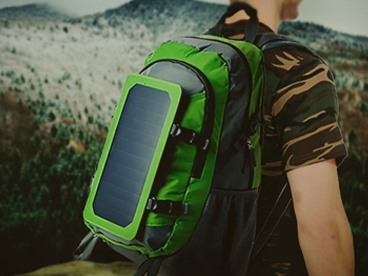 Solar Backpacks with Battery Bank