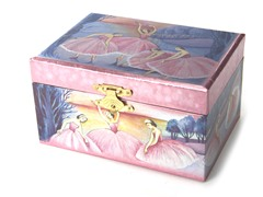 Iridescent Ballerina Jewelry Box