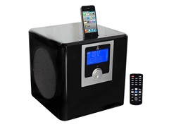 300W 2.1CH iPod Music System with AM/FM Clock Radio