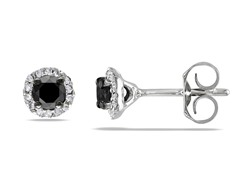 0.5cttw Black Diamond Earrings