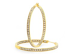 18kt Gold Plated w/ Simulated Diamond