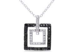 0.10 Black Diamond Pendant with Chain