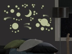 Outer Space Glow Wall Decals