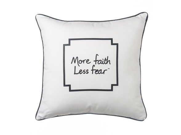 Le Motto Dec Pillow More Faith Less Fear Extraordinary Decorative Pillows For Less