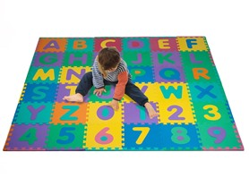 96Pc Foam Floor Alphabet & Number Puzzle Mat